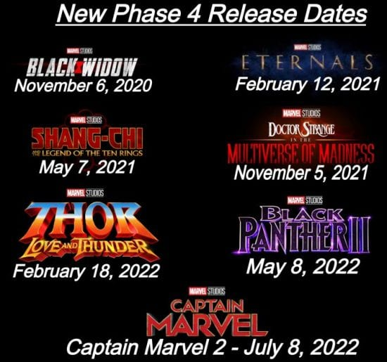 Disney Shifts Phase Four Slate