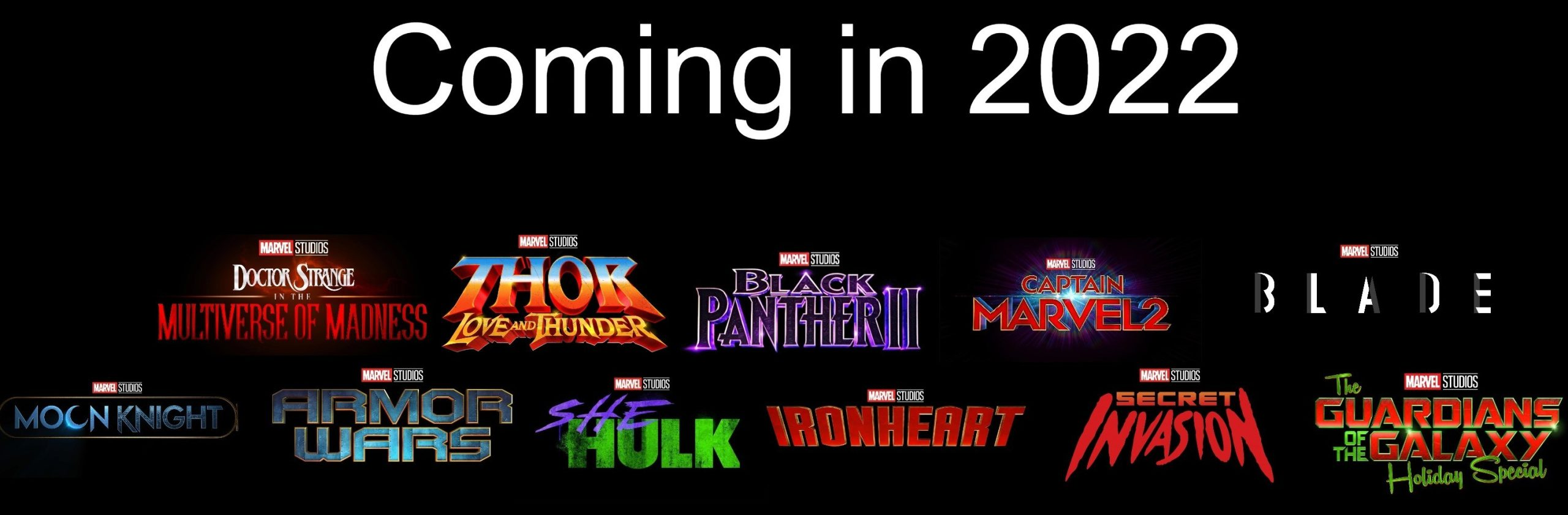 Marvel Studios could have as many as 11 projects (6 shows, 5 films) drop in 2022